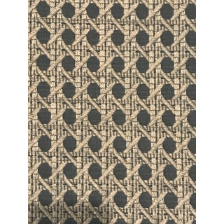 English Traditional Brunschwig & Fils Monterey Woven Tex Baltic Fabric - 4 Yards For Sale
