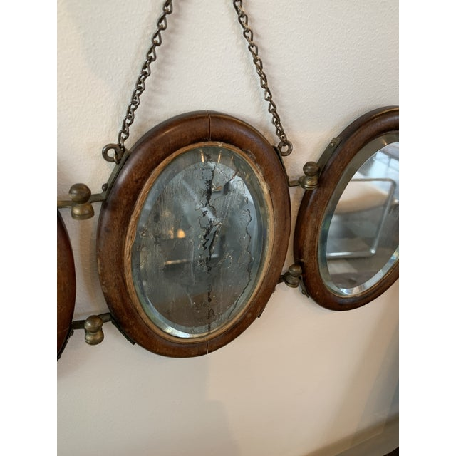 Stunning antique original glass hanging mirror!