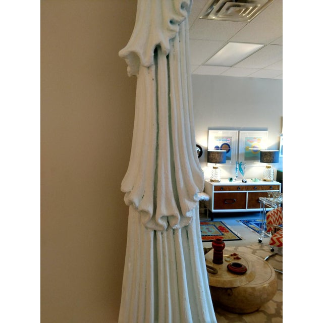 Art Nouveau 1980's Drapery Styled Framed Mirror, Vintage For Sale - Image 3 of 9