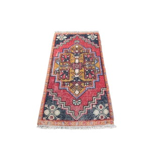 1970s Turkish Handmade Rug - 36'' X 19''