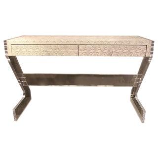 Acrylic Apollo Writing Desk For Sale
