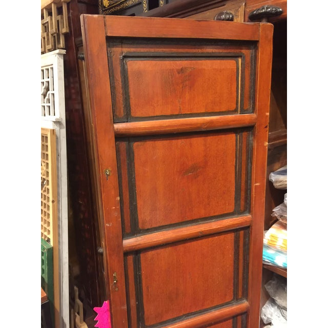 Asian Antique Chinese Elmwood Armoire For Sale - Image 3 of 7