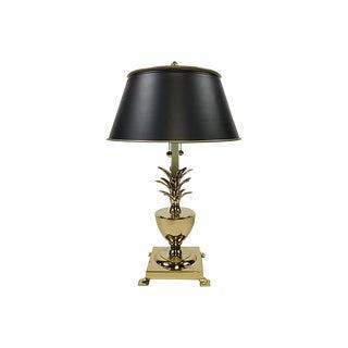 Hollywood Regency Brass Pineapple Lamp For Sale
