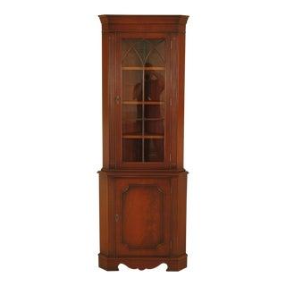 1980s Vintage Bevan Funnel Mahogany Corner Cabinet For Sale