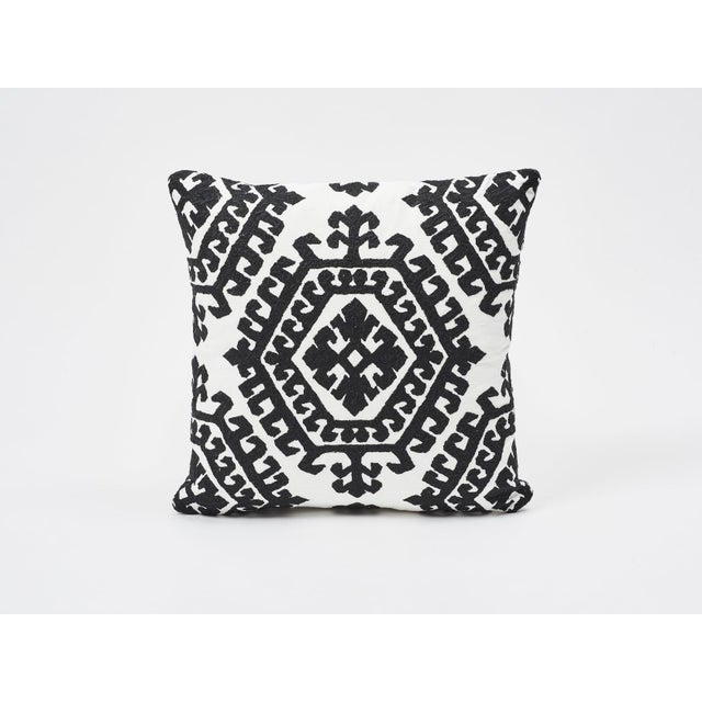 Schumacher Double-Sided Pillow in Omar Embroidery Print For Sale In New York - Image 6 of 6