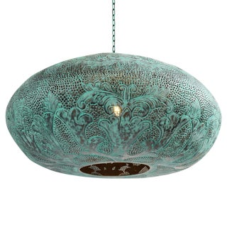 Verdigris Copper UFO Lantern For Sale