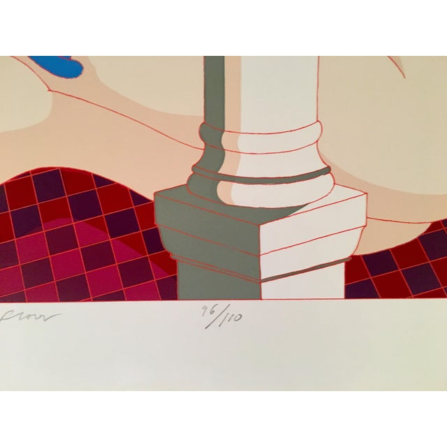 "Blue Rare 1979 Hand Signed Milton Glaser Serigraph, ""Nude on the Music Hall Floor"" For Sale - Image 8 of 12"