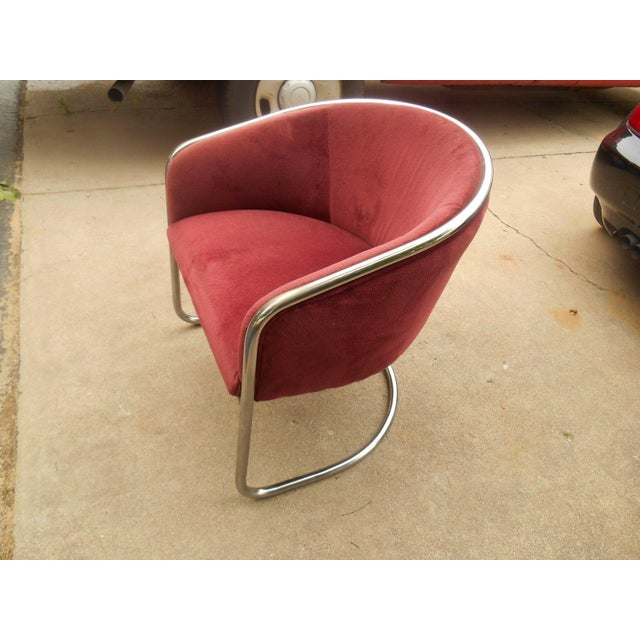 Thonet Mid-Century Thonet Cantilever Barrel Chair For Sale - Image 4 of 8