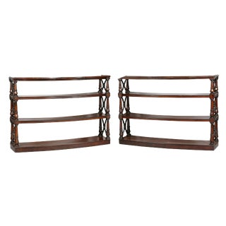 Pair of Regency Mahogany Bookcases For Sale