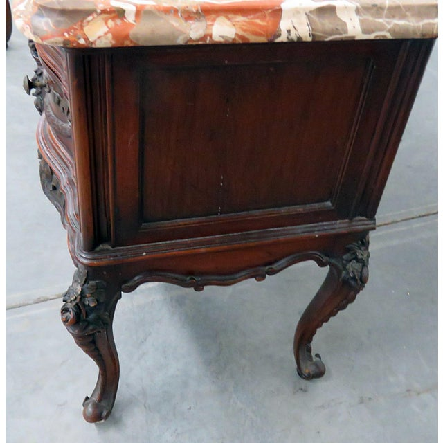 Louis XV Style Marble Top End Tables For Sale - Image 4 of 10