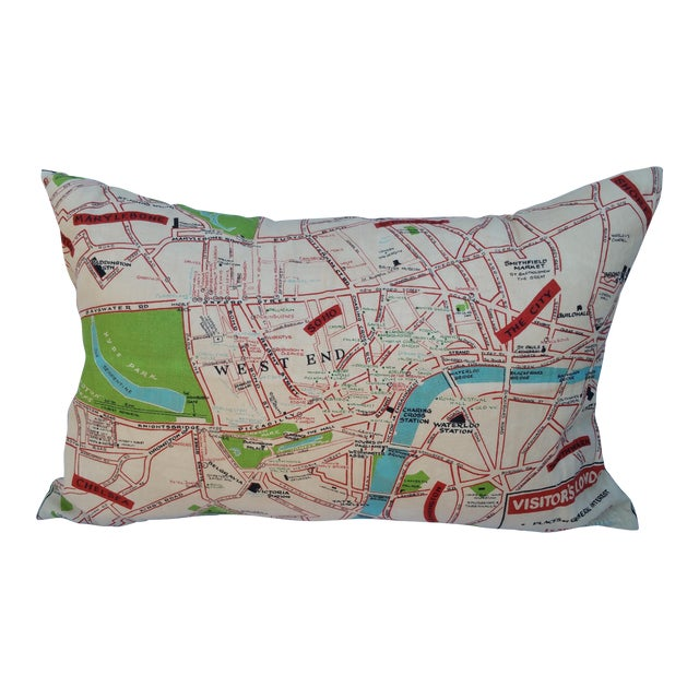 Old London Map Pillow - Image 1 of 6