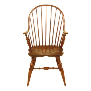1990s Vintage Bidelin Windsor Continuous Arm Chair For Sale