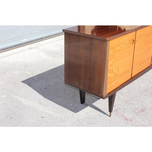 1940s French Art Deco Mahogany Sideboard For Sale - Image 10 of 13
