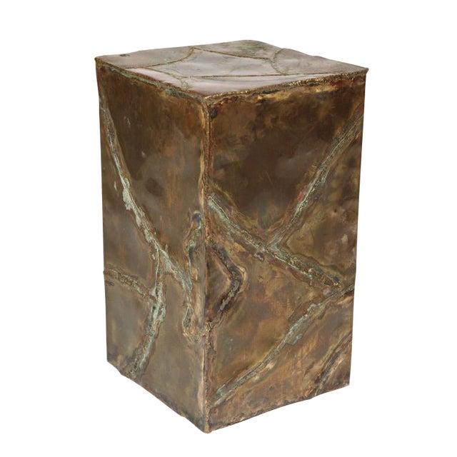 Silas Seandel Brutalist Patchwork Column Pedestal For Sale