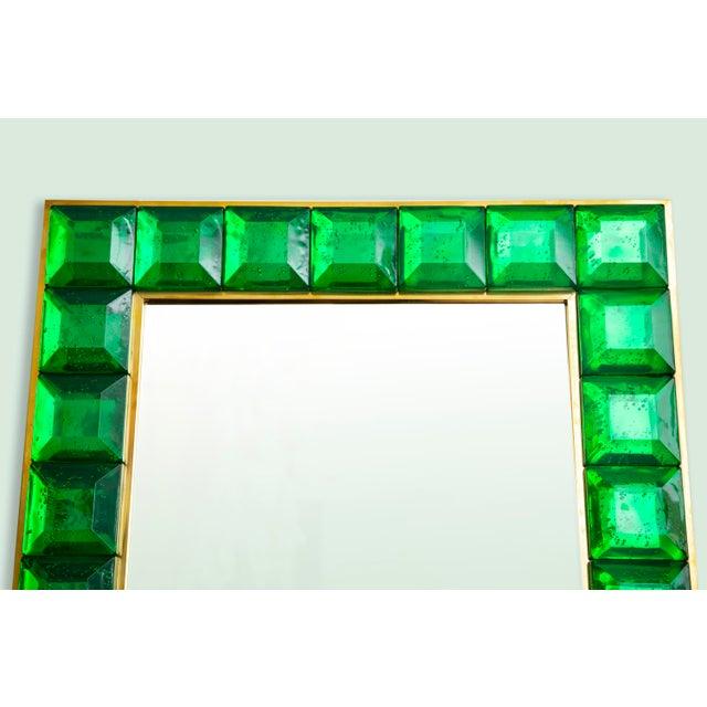 Contemporary Green Diamond Murano Glass Mirror For Sale In Miami - Image 6 of 8
