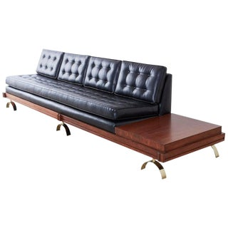 Martin Borenstein Challenge Series Walnut Gondola Sofa For Sale