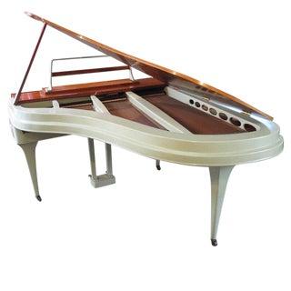 Rippen Aluminum Grand Piano, Midcentury Design For Sale