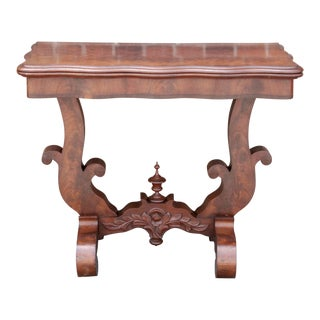 Empire Style Carved Mahogany Console For Sale