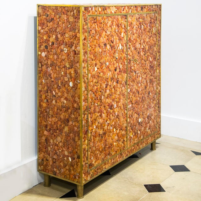 Contemporary Kam Tin - Cabinet Covered With Agate Gemstone, France, 2012 For Sale - Image 3 of 6