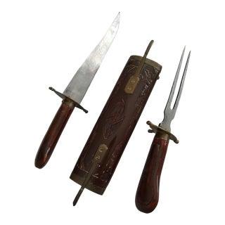 Vintage Meat Carving Set For Sale