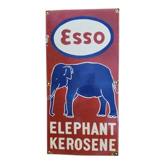 1950s Enamel Elephant Sign For Sale
