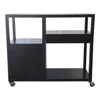 Harvey Probber Mid-Century Modern Ebonized Mahogany Bar Cart For Sale