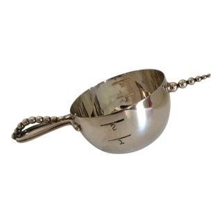 1930's Napier Bottoms Up Silver 1 to 2 Ounce Jigger
