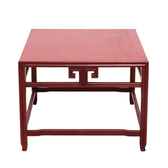 Michael Taylor for Baker Far East Red Occasional Table For Sale - Image 9 of 9