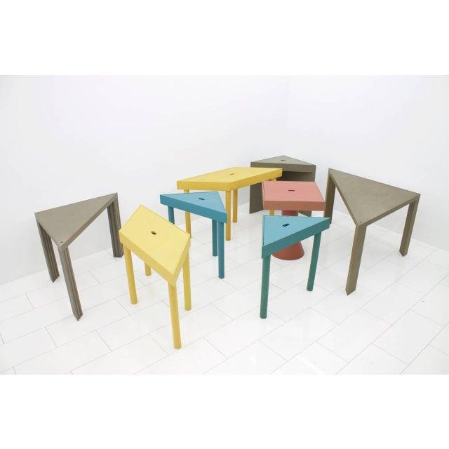 Mid-Century Modern Massimo Morozzi Tangram Tables for Cassina, 1983 For Sale - Image 3 of 8