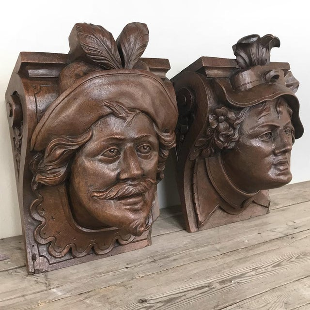 Pair 19th Century Renaissance Wall Sconces ~ Corbels are a great way to add an Old World, eclectic touch to any room,...