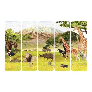 """Serengeti"" - Illustrated Bookmarks - Set of 5 For Sale"