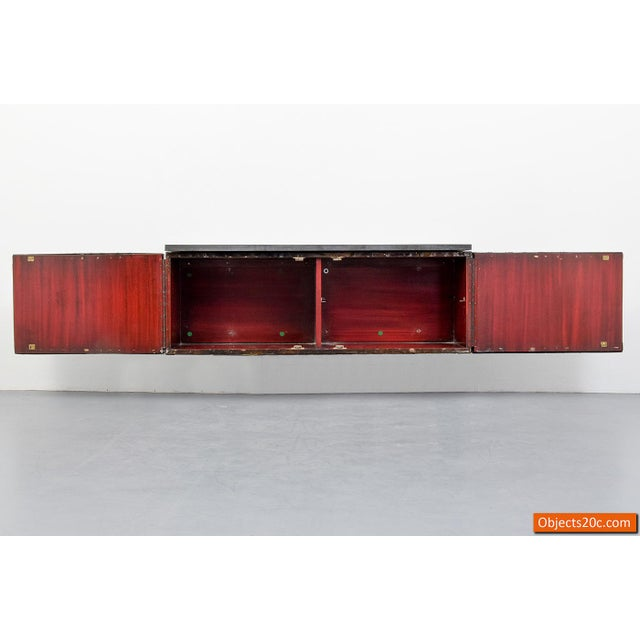 Brutalist Paul Evans for Directional Deep Relief Wall Cabinet For Sale - Image 3 of 12