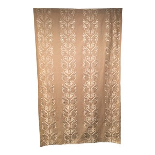 Light Beige Embroidered Curtain Panel