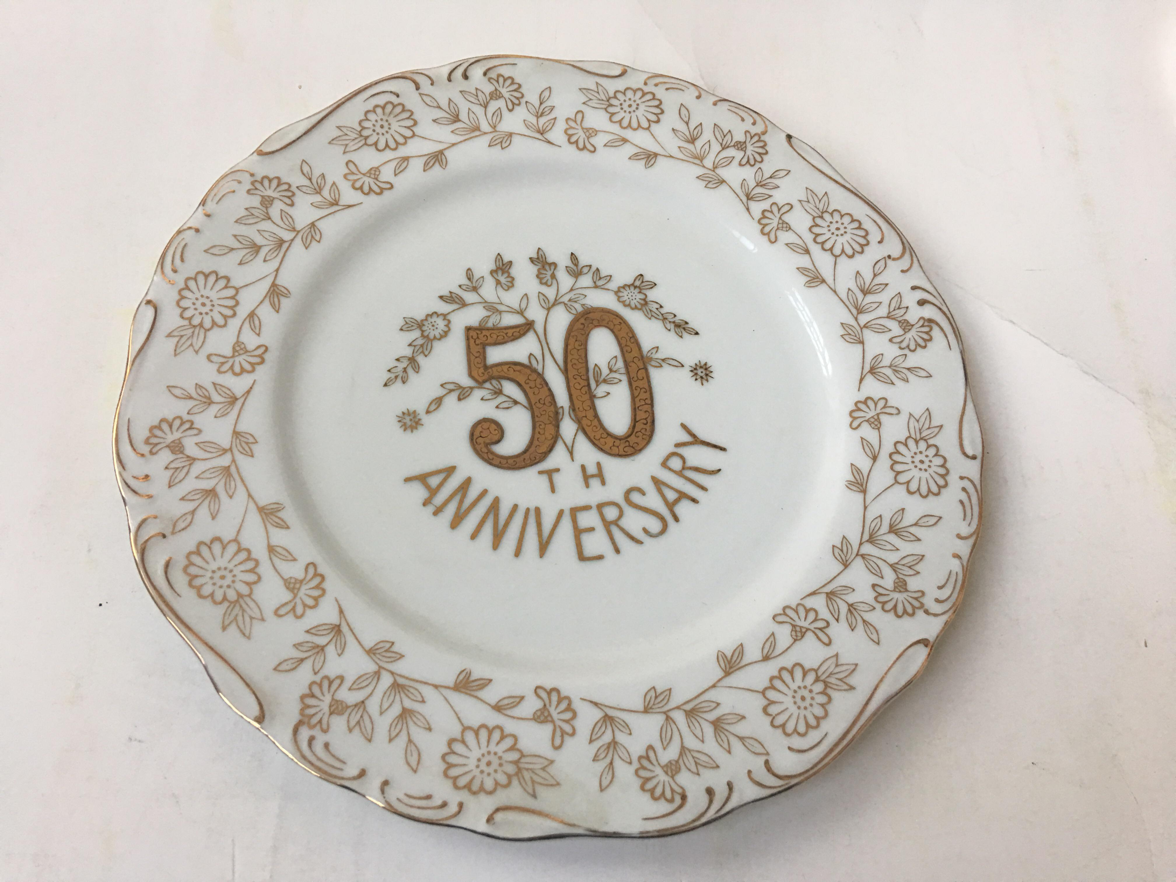 Norcrest Fine China 50th Anniversary Plate - Image 6 of 6  sc 1 st  Chairish & Norcrest Fine China 50th Anniversary Plate | Chairish