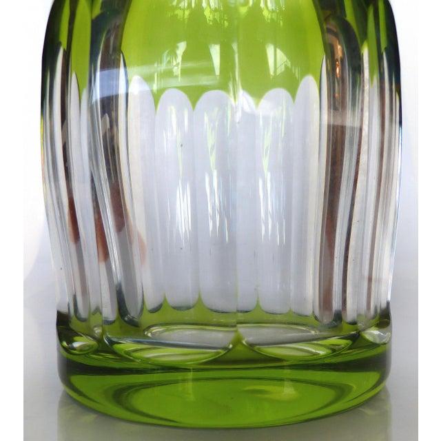 Belgian Val St Lambert Cut Crystal Decanter For Sale - Image 3 of 7