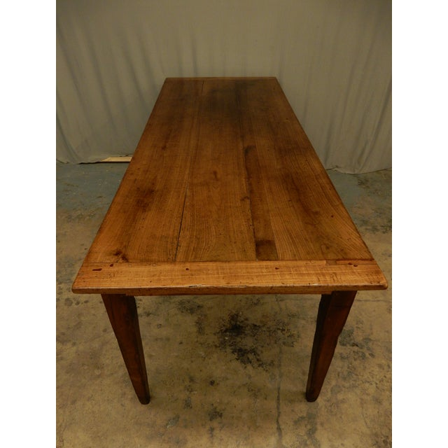 Very nice early 19th century French walnut farm table. Has a warm patina and lots of room between bottom of apron and...