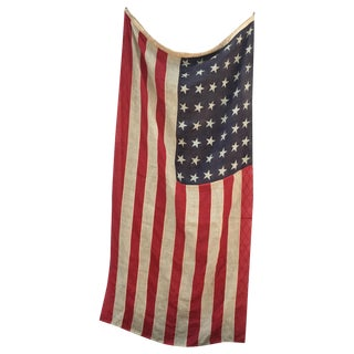 WWI Antique 48 Star American Wool Flag