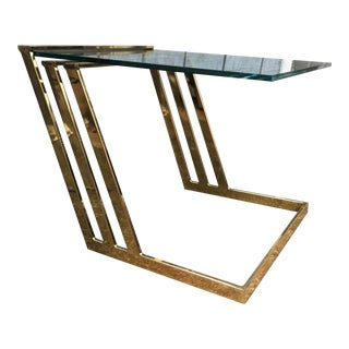 Brass Cantilevered Table