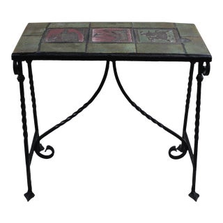 1920 Moravian Tile Top Table