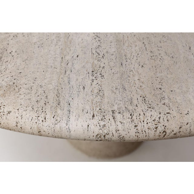 Round Travertine Table Attributed to Angelo Mangiarotti For Sale - Image 10 of 12