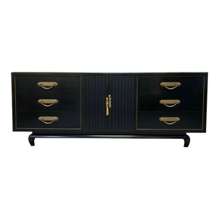20th Century Chinoiserie American Martinsville Credenza For Sale