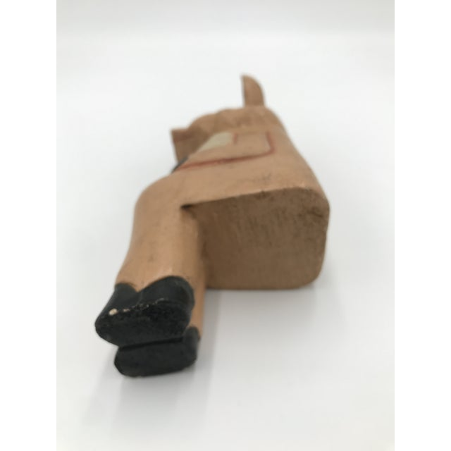 Wooden Pig Bookend For Sale In Los Angeles - Image 6 of 7