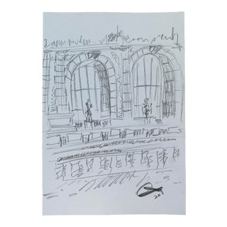 Palais Galliera by Alex Baker Drawing For Sale