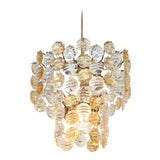Image of Two-Toned Murano Glass Chandelier For Sale