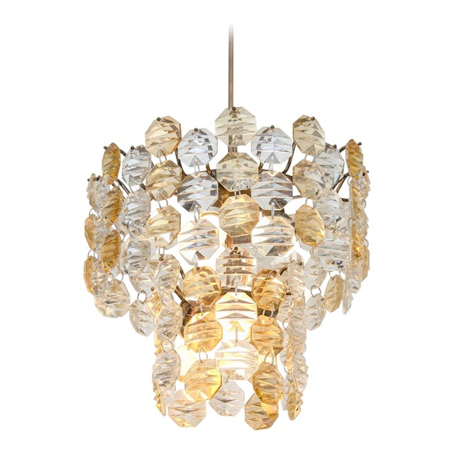 Two-Toned Murano Glass Chandelier For Sale