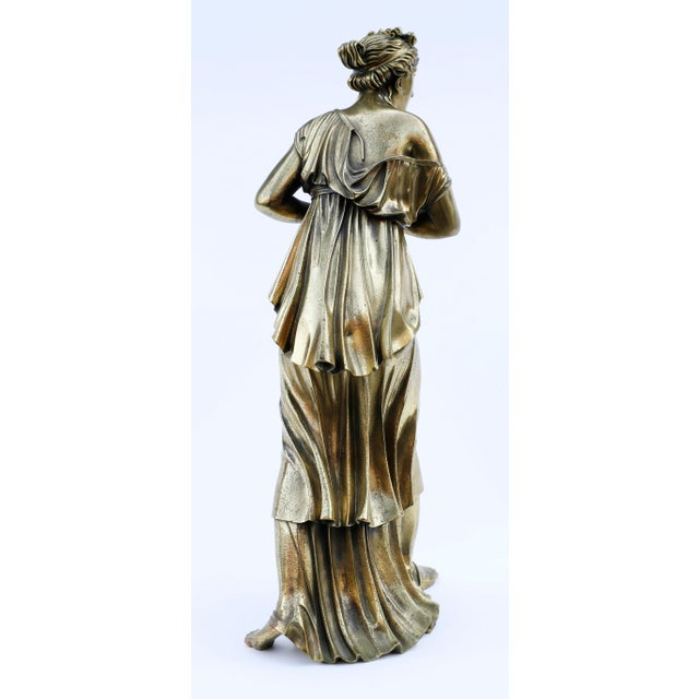 Late 18th Century 18th Century Neoclassical Bronze Doré Sculpture of a Woman For Sale - Image 5 of 11