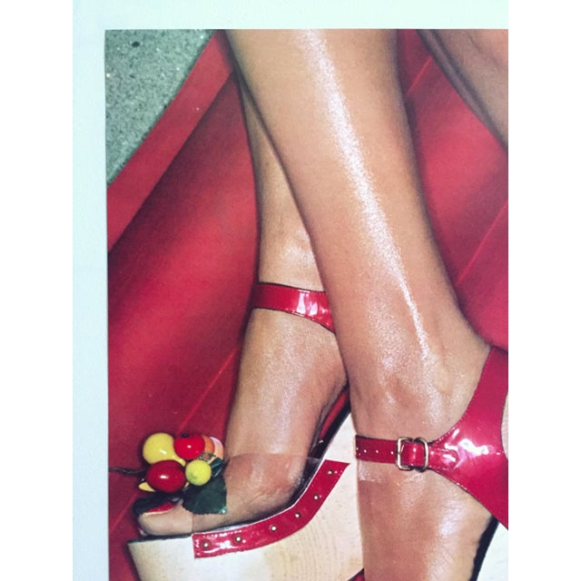 """Various Artists Fiorucci Rare Original Vintage 1978 """" High Heels """" New Wave Italian Fashion Collector's Lithograph Print Pop Art Poster For Sale - Image 4 of 13"""