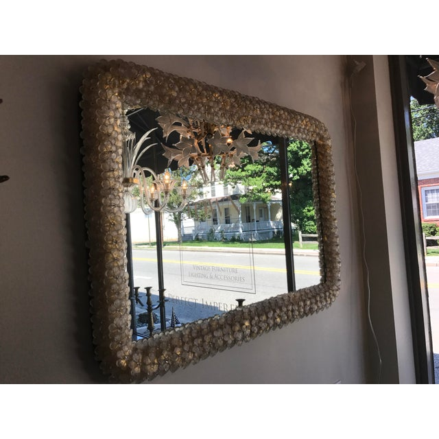 Murano Gold Daisy Mirror For Sale - Image 5 of 5