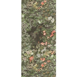 Cole & Son Woodland Wallpaper Roll - Coral/Olive/Char For Sale