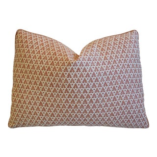"Italian Mariano Fortuny Murillo Feather/Down Pillow 22"" X 16"" For Sale"